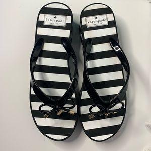 Kate Spade New York Black Rhett Flip Flops